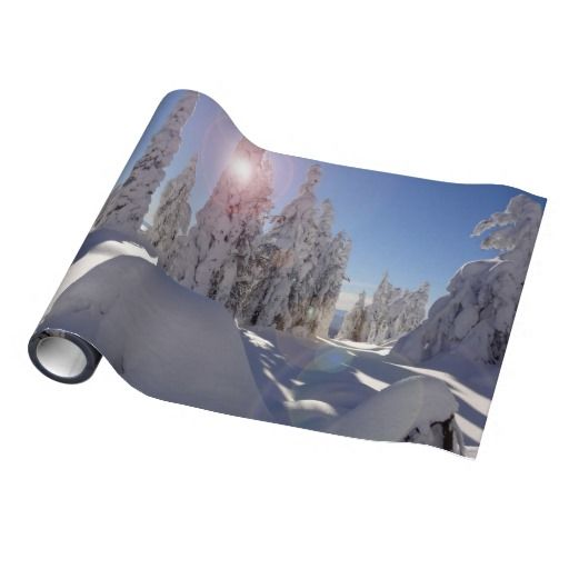 Winterscape Wrapping Paper  1 large photo A #winter wonderland in the mountains of British Columbia, #Canada.