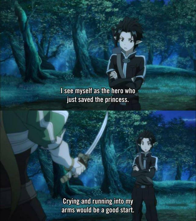 Sword Art Online, Kirito. Finally watched it & it is as good as the pics led me to believe.