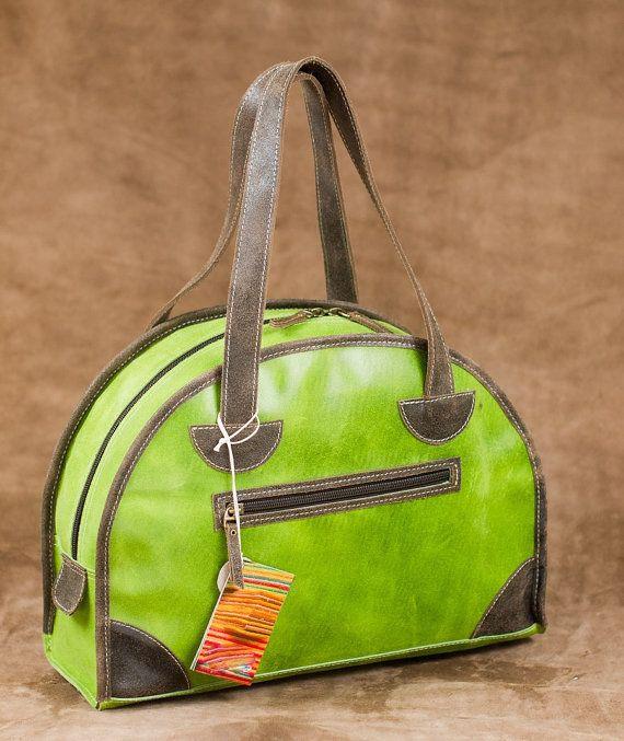 Model: Bolichera Women's handmade leather vintage bowling style by FerchisFashion, $91.00