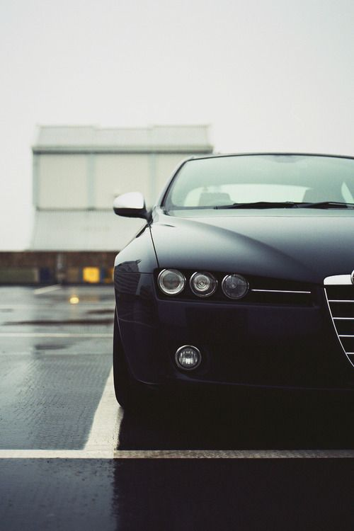 matte black Alfa Romeo