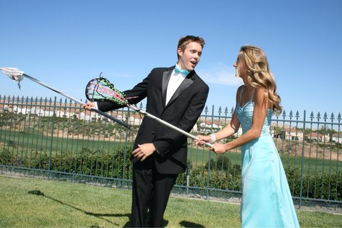 lacrosse, couple, and Prom image