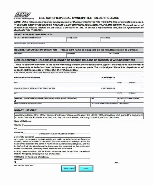 Lien Waiver Form Missouri Unique Missouri Lien Release Form Dmh Id