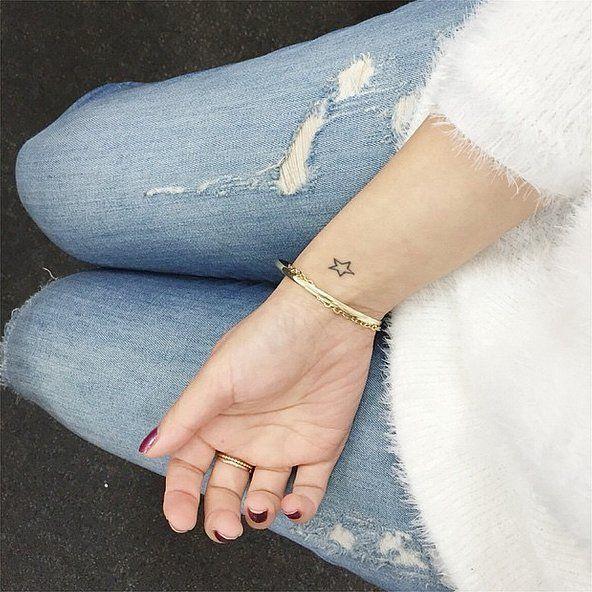 Simply Elegant Wrist Tattoo // 13 Tiny Star Tattoo Ideas That Are Truly Stellar