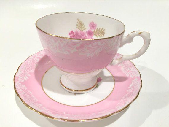 Delightful Pink Tuscan Teacup and Saucer Tea Set by AprilsLuxuries
