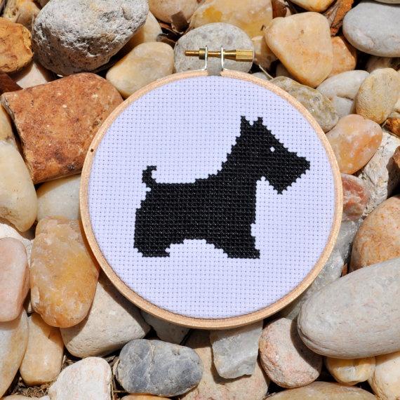 scottie dog cross stitch