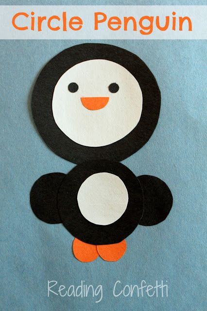 this is a great penguin for the young toddlers to do as they can put the circles where they want them to be and it will be their penguin....no pressure.