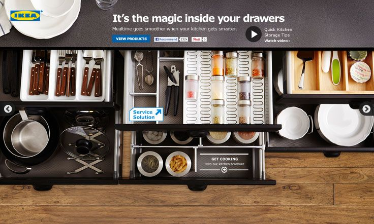 It's the magic inside your drawers. Mealtime goes smoother when your kitchen gets smarter. #IKEA #PinToWin