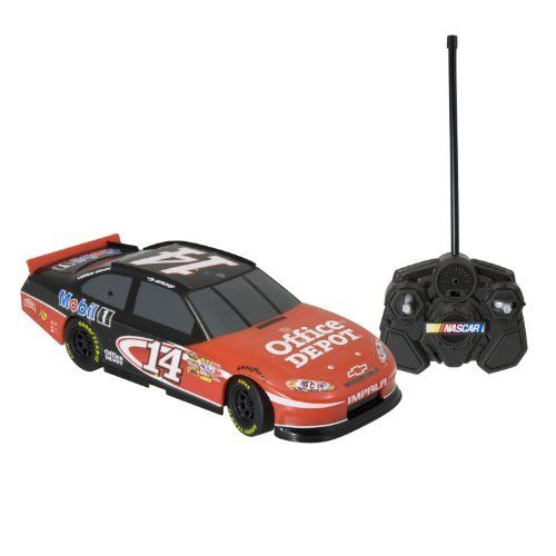 NASCAR Radio Control 1:24th Replica Tony Stewart (Office Depot) 49Mhz Ch B by NASCAR. $32.79. From the Manufacturer                Experience the thrill of NASCAR as you step behind the wheel of a full function 1:24th R/C stockcar. Each car features a race-inspired design and has a range of up to 30' Choose from Dale Earnhardt Jr (Amp Energy or National Guard), Tony Stewart (Office Depot) and Jimmy Johnson's (Lowe's) cars and create your own starting grid. These cars have m...