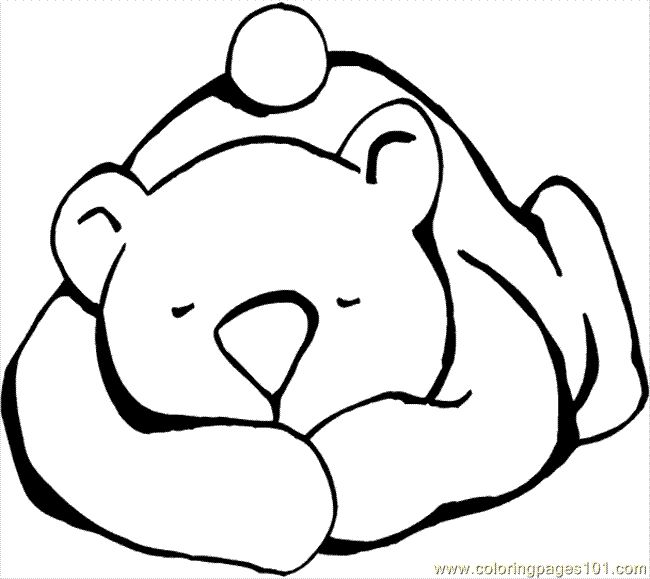 Coloring page for Bear Snores On book