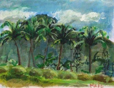 "Daily Paintworks - ""Palms"" - Original Fine Art for Sale - © Melle Ferre"