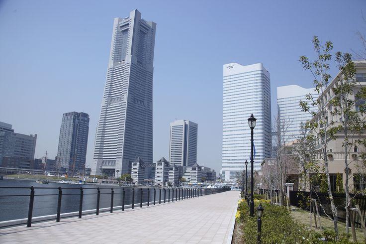 運河パーク みなとみらい 公園 横浜 海が見える公園