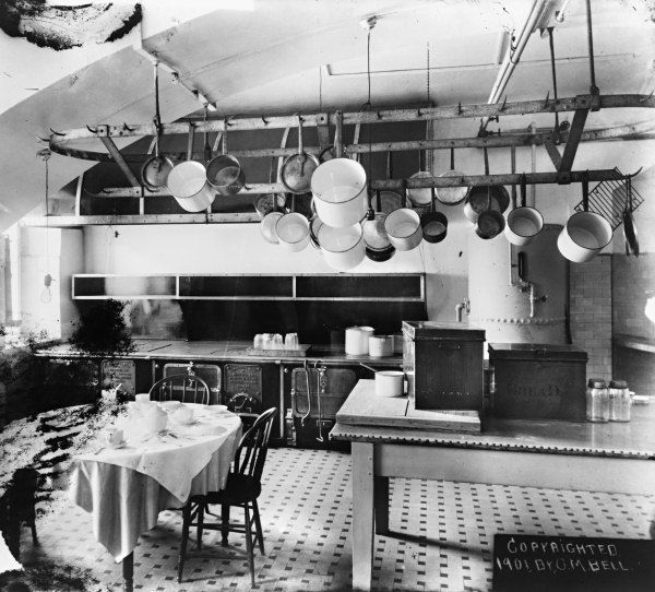1901 White House Kitchen. Has Separate Work Table And