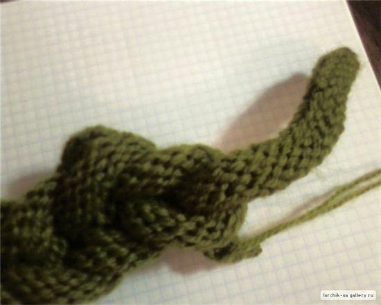 Вязаная повязка на голову. Вязание спицами . Обсуждение на LiveInternet - Российский Сервис Онлайн-Дневников