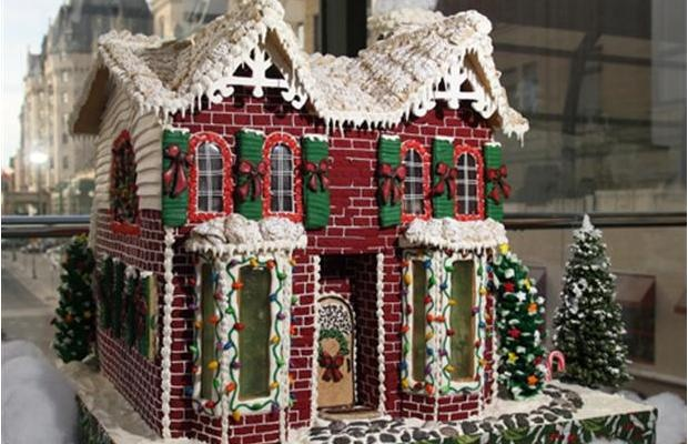 """Nothing says """"Christmas"""" like """"La Cite Collegiale ginger house"""" at the CMHC seventh annual Gingerbread house building contest.  Photograph by: Bruno Schlumberger, Ottawa Citizen          E-mail this Gallery  Print this Gallery  Share this Gallery"""