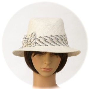 FEDORA - natural-colour hemp/organic cotton herringbone weave - Rosehip Hat Studio