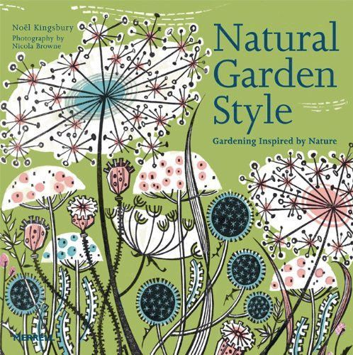 Natural Garden Style book cover illustration - by Angie Lewin