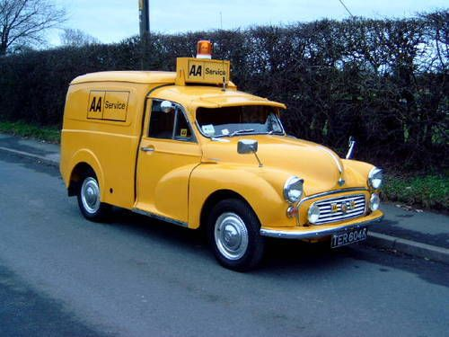 1972 MORRIS  MINOR  AA   BREAKDOWN  RECOVERY VEICLE