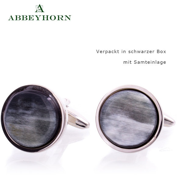 Abbeyhorn Manschettenköpfe Kreis