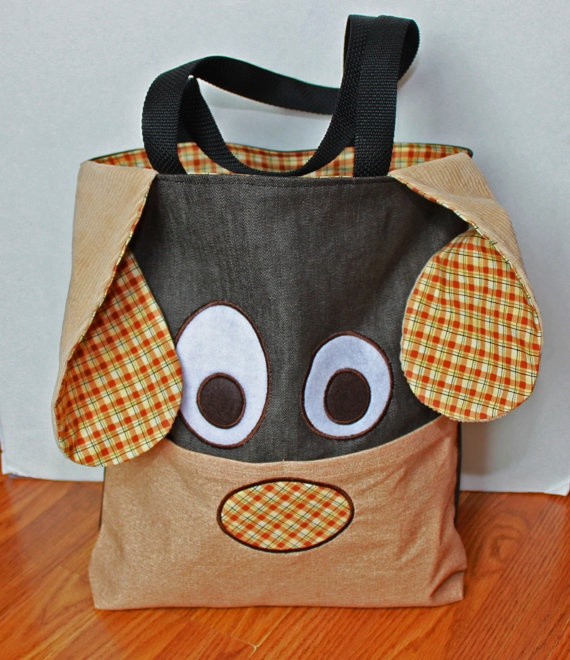Children's Peronalized Puppy Tote Bag
