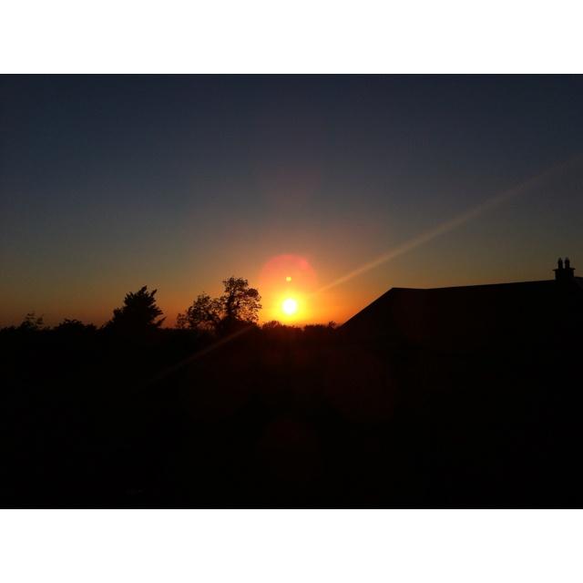 Sunset near Blessington May 28th 2012