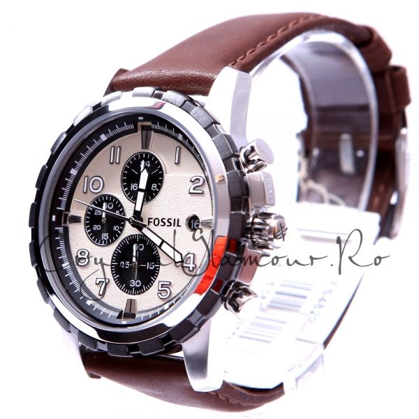 Ceas barbati Fossil FS4829 Dean Chronograph Leather Watch