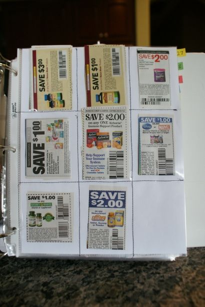 Make your own coupon binder pages.