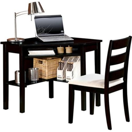 Winslow Black Corner Desk and Chair Set