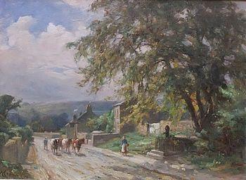 William Greaves' Autumn East Keswick   oil painting on panel