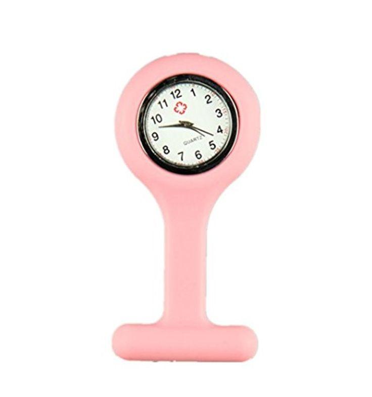 Domire Montre infirmière en silicone  - rose 2017 #2017, #Montresdepocheetgoussets http://montre-luxe-femme.fr/domire-montre-infirmiere-en-silicone-rose-2017/