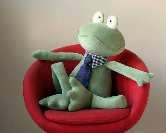 Moss Green Giant Frog stuffed plush toy - $80.00
