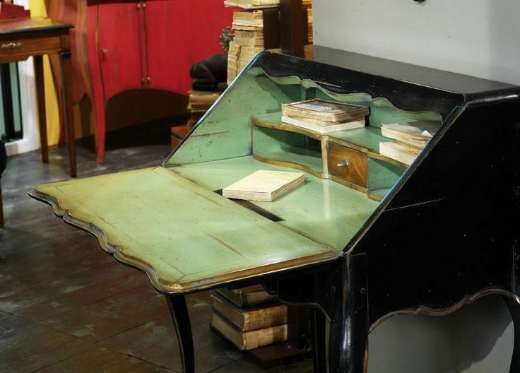 Painted Cherrywood Desk from George Tannahill & Sons
