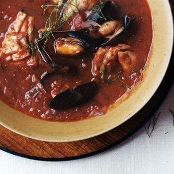 Quick & Easy Cioppino Recipe - ZipList - Looks intimidating, but it isn't! The hardest thing is assembling the ingredients. The rest is just doing it step by step. Cioppino is wonderful with crusty french bread to sop up all those juices.