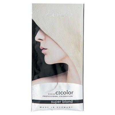 C:ЕНКО Блонд-порошок ПОРЦИОННЫЙ  Порошок для осветления C:EHKO SUPER BLOND белый порционный представляет собой эффективное средство для полноценного обесцвечивания волос. С его помощью можно обесцветить волосы, не нарушив при этом их структуру. Потерянные полезные вещества с лихвой компенсируются благодаря витаминному составу. Средство можно смешивать с окислителем для получения мягкого крема, при этом все качества порошка сохраняются. Его можно использовать для обесцвечивания всех типов…