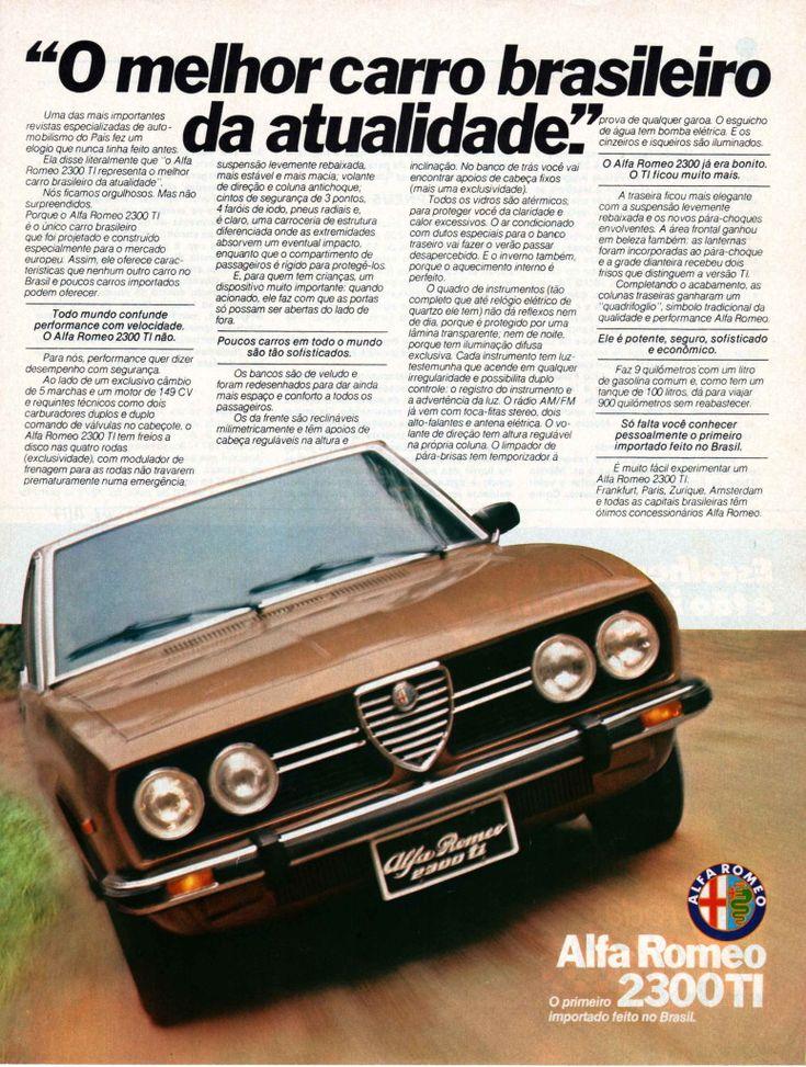 Alfa Romeo 2300 TI advertisment