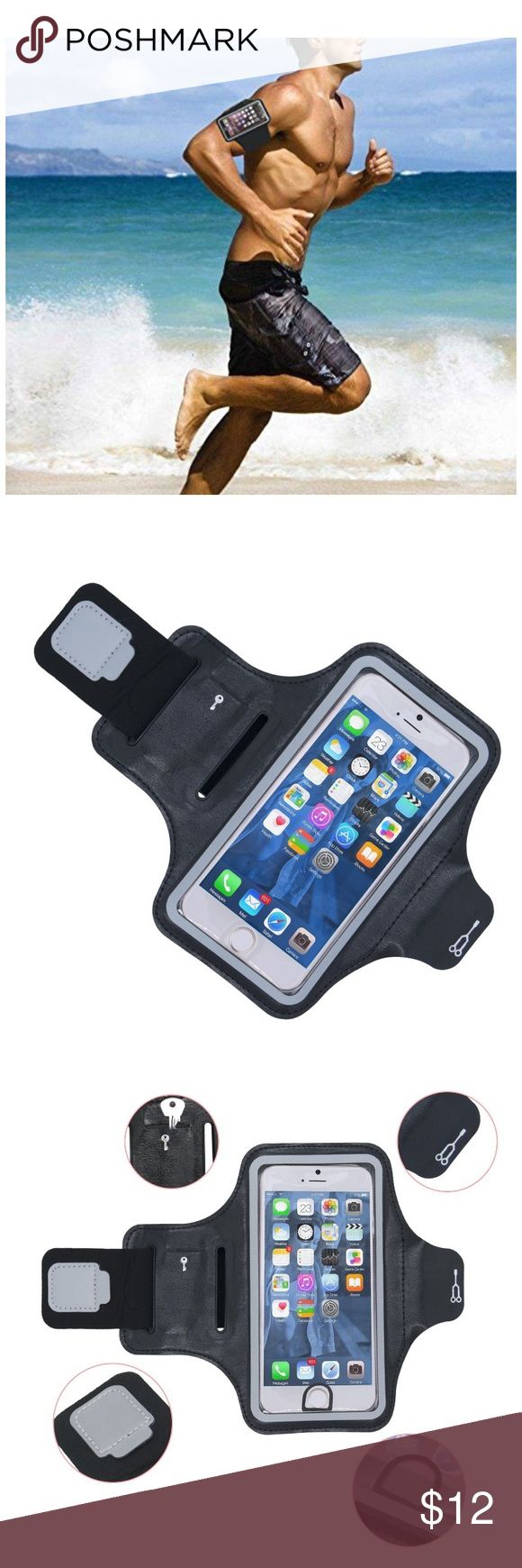Armband for iPhone 7 Plus 6 Plus 6s Plus Cell Phon Unisex Armband for iPhone 7 Plus 6 Plus 6s Plus Cell Phone Sports Running Exercise Workout Armband for Samsung Galaxy S6/S7 Edge s8/s8 Plus LG G5 Note 2/3/4/5 Key Holder 5. 5Inch Black Accessories Phone Cases