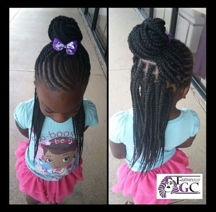 My daughter's hair is long enough and most certainly THICK enough to do this style with her own hair