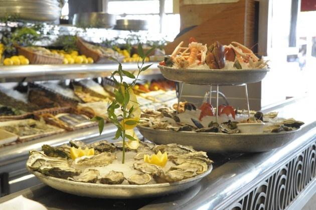 Fresh seafood from Restaurant La Coupole, Paris