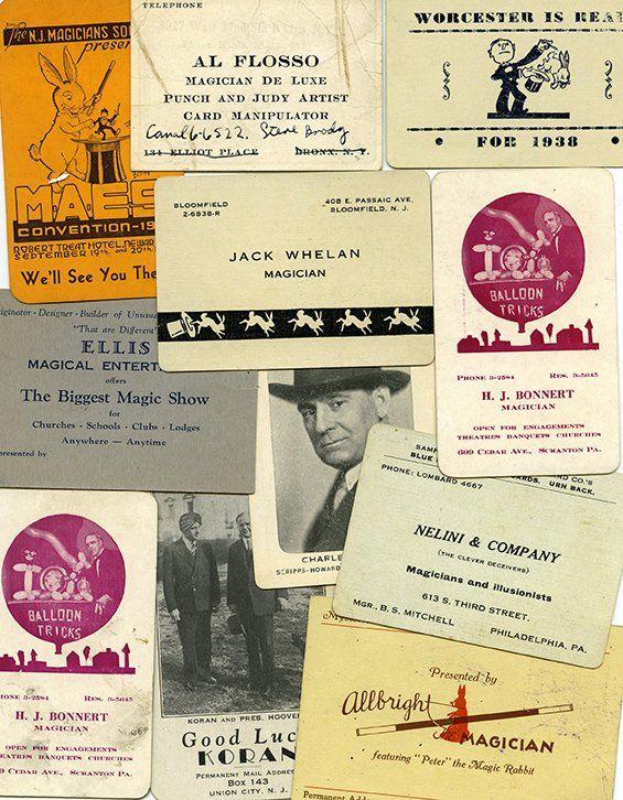 7 best magic business cards images on pinterest business cards risque business card see more vintage magic ephemera reheart Images
