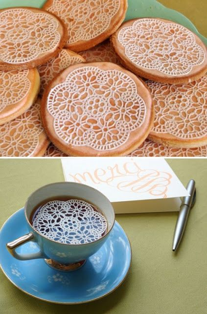 This edible lace is amazing!  And if you follow the links to the video, she makes it look so very easy!