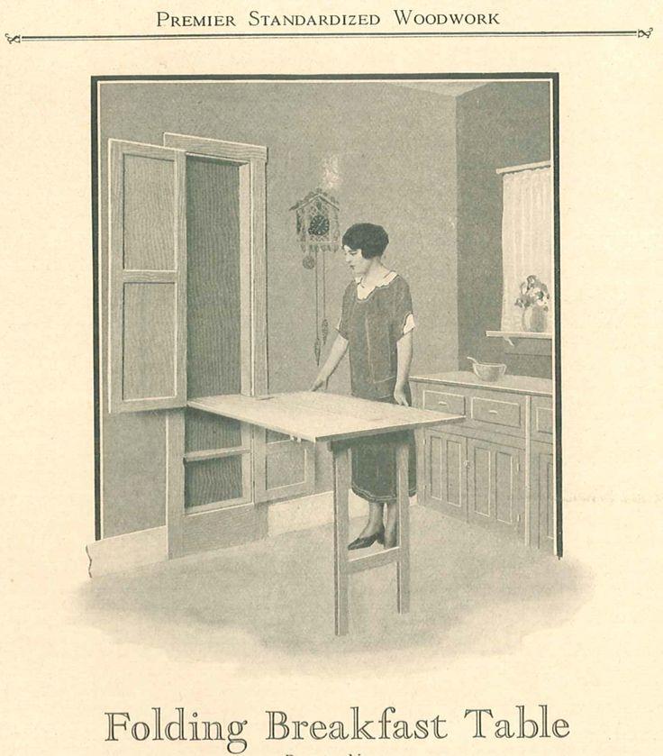 Folding Breakfast Table, from Premier Standardized Woodwork catalog, circa 1920's.