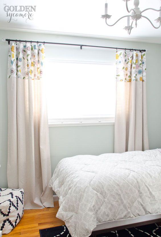 no sew drop cloth curtains girls bedroom