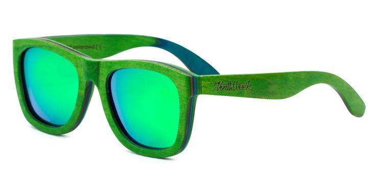 Las Colorful Green & Green Polarized son la máxima expresión de lo cool. Gafas de sol de madera de color verde con lentes verdes polarizadas. ¡Todo un hito que marcará la diferencia! www.northweek.com...