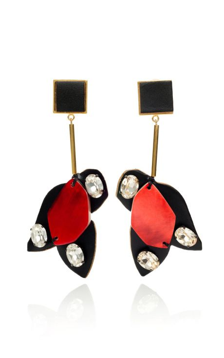 Marni Hot Red Geometric Puzzle Piece Earrings: Hot Red, Puzzles Pieces, Geometric Puzzles, Fashion Earrings, Pieces Earrings, Resorts 2013, Red Geometric, Marni Earrings, Marni Hot