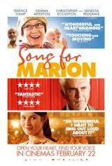 Una canción para Marion. Una mujer mayor, enferma de cáncer, encuentra un remanso de paz en un grupo de señores jubilados que se reúnen para cantar. Su marido, un ho...