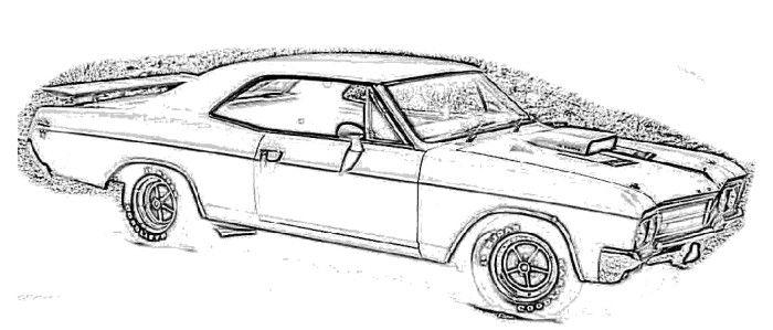 corvette 1966 buick kylark coloring page
