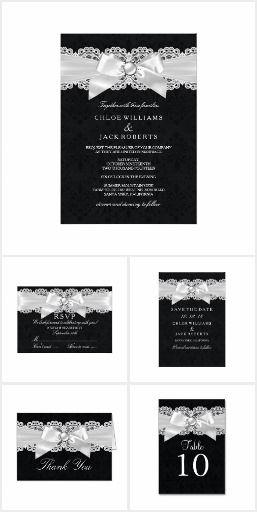 Black and White Elegant Wedding Set