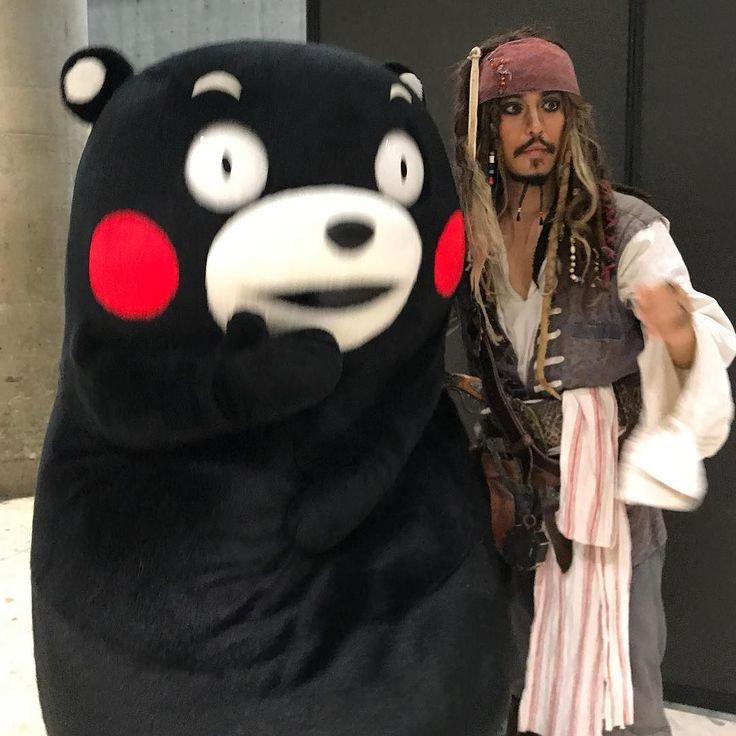 Джек-Воробей и его Кумамон на токийской турвыставке! #прямосейчас #justnow #tokyo #japan