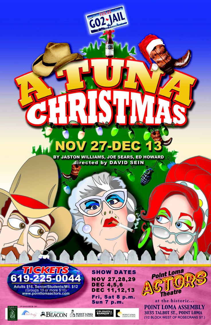 A Tuna Christmas Christmas play, Theatre poster, Play poster
