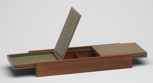 Wood and leather Cigarette Box by Javier Carvajal