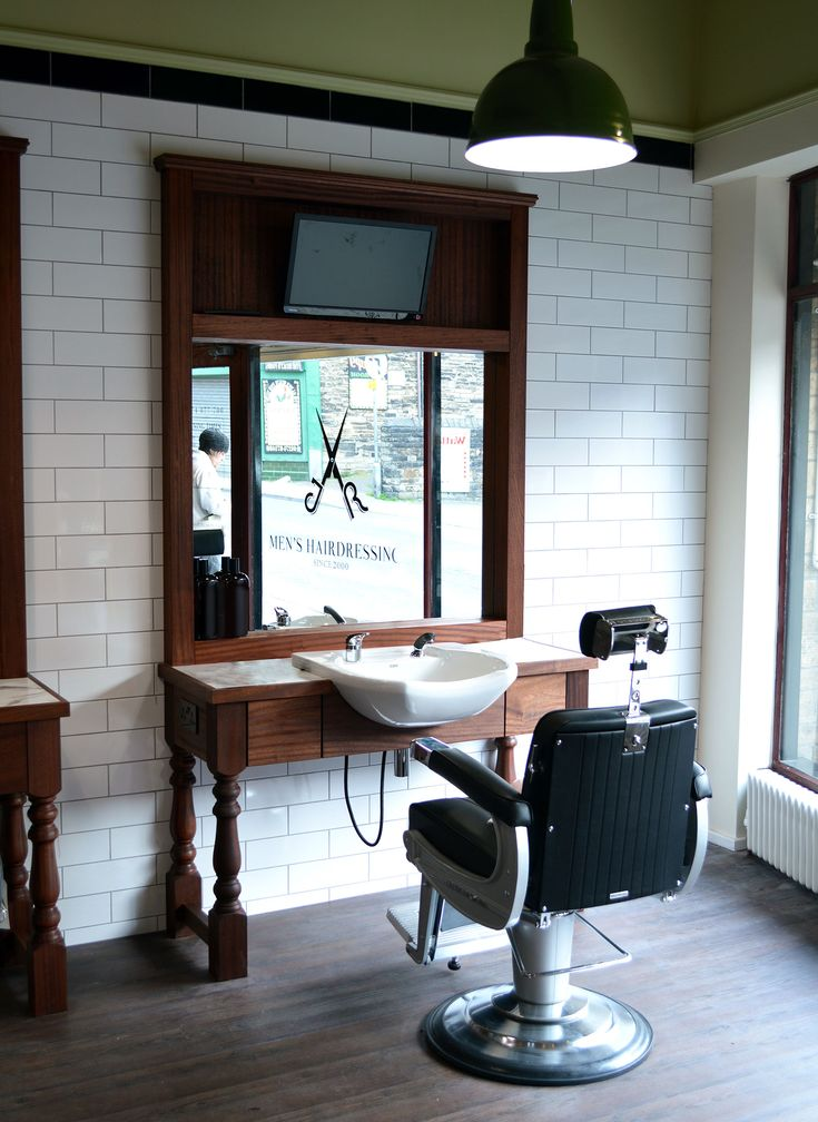 Bespoke cutting station | Statement Furniture. Barbershop DesignBarbershop  IdeasBarber ...